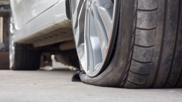 How long can I drive on a flat tire?